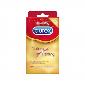 DUREX Natural Feeling, Latexfree, 20 cm (7,8 in), 10 Condoms