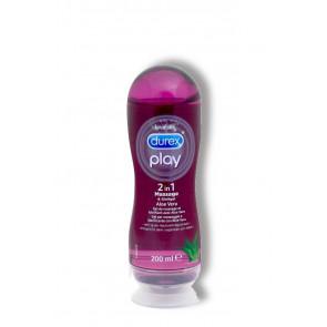 Durex Play 2 in 1, Massage & Lubricant with Aloe Vera, Water Based, 200 ml (6,8 fl.oz.)