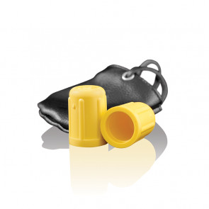 SI IGNITE Nipple Suction Cups with Leatherpouch, yellow