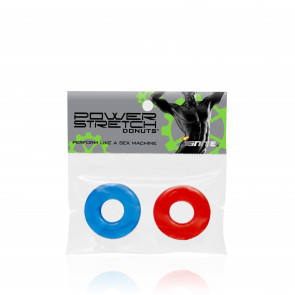 SI IGNITE Power Stretch Donut, Red & Blue, Ø 1,3 cm (0,5 in) Stretchable